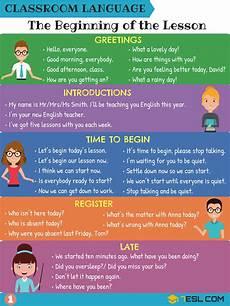 English Language Charts For Classroom Classroom English 300 Classroom Phrases For English