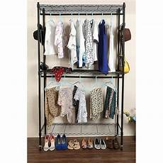 ktaxon rod closet 2 shelves wire clothing rolling