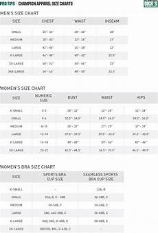 Connected Apparel Size Chart Champion 174 Apparel Size Chart Pro Tips By S Sporting