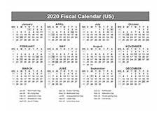 2020 Fiscal Year Calendar Fiscal Calendar Download Amp Print Fiscal Year Calendar