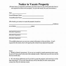 Notice To Vacate Apartment Templates Free 8 Notice To Vacate Samples In Google Docs Ms Word