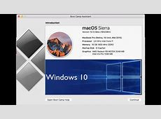Download and/or Install Windows 10 on MAC OS Sierra using