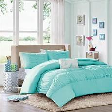 comforter sets for blue aqua ruched
