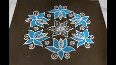 Color Kolam Designs With Dots Latest Lotus Kolam Designs With Dots Beautiful Color