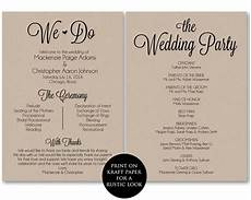 Wedding Ceremony Program Template Free Ceremony Program Template Wedding Program Printable We Do