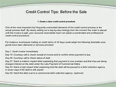 Credit Control Letter Credit Control Tips