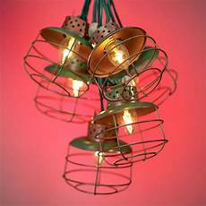 Caged Patio Lights Metal Cage Lantern String Party Lights Rustic Lighting