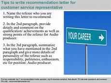 Customer Service Representative Tips Customer Service Representative Recommendation Letter