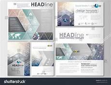 social media design templates social media posts set business templates stock vector