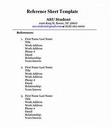 Listing References For Job Free 12 Sample Reference Sheet Templates In Pdf Ms Word