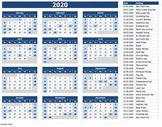 2020 calendar templates with holidays 2020 calendar printable with holidays and notes calendar