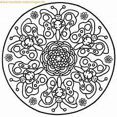 ausmalbilder mandala schmetterling mandala coloring
