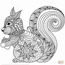 Ausmalbilder Tiere Supercoloring H 252 Bsches Eichh 246 Rnchen Zentangle Coloring