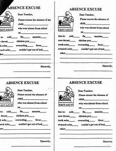 School Absence Note Template Free Absence Note Printable Doctors Note Template School