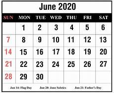 June 2020 Blank Printable Calendar Free Printable June 2020 Blank Calendar Pdf Excel Amp Word