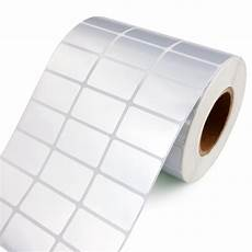 Label Paper 10000 Stickers Silver Barcode Label Rolls 30x10mm Pet