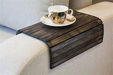 wooden sofa armrest tray table