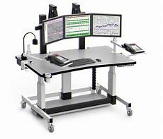 Computer Platform Height Adjustable Computer Desk With Monitor Platform