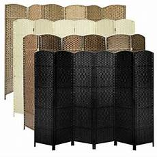 made weave wicker folding room divider privacy screen