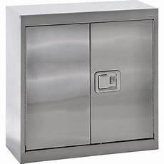 sandusky buddy stainless steel wall cabinet 30in w x