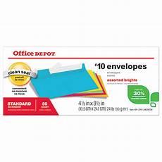 Office Depot Invitations Office Depot Brand Brights Invitation Envelopes 4 18 X 9