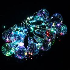 Red Fairy Lights Australia 4m 10leds Bulb Shaped Indoor Outdoor Fairy String Light