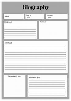Autobiography Writing Template A Range Of Free Downloadable Writing Templates Edtech