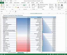 Small Business Templates Excel Startup Cost For Small Business Excel Template