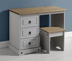 corona 3 drawer dressing table grey distressed waxed pine