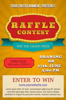 Raffle Ticket Poster Ideas Yellow Raffle Poster Template Postermywall