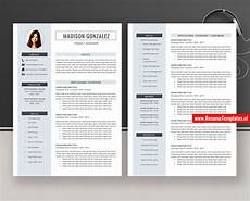 Curriculum Vitae Layout Simple Cv Template Resume Template For Microsoft Word