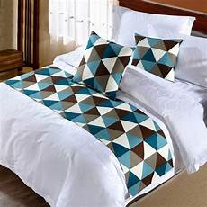 fashion geometric design bed runner bed scarf bed
