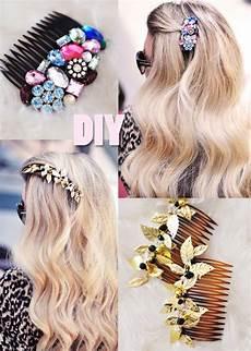 diy pretty bejeweled hair combs diy hair accessories