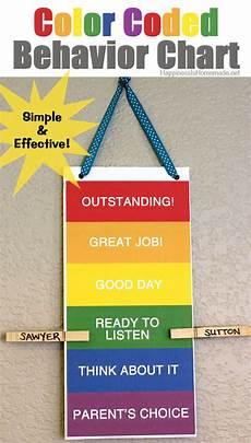 Free Printable Behavior Charts Printable Color Coded Behavior Chart Happiness Is Homemade