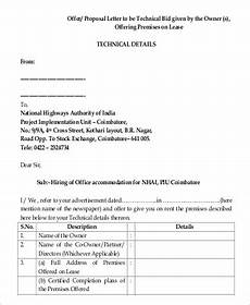 Technical Offer Sample 42 Proposal Letters In Pdf