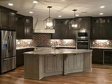 Dark Cabinet Kitchen Design Ideas Love This Kitchen Think I Would Want White Cabinets