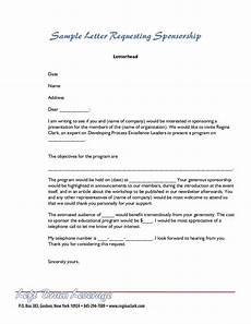 Letter For Sponsorship Sample Letter For Sponsorship
