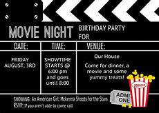 Movie Themed Invitation Template Free Movie Ticket Birthday Invitation Template Best Party Ideas