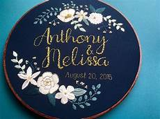 custom personalized embroidery hoop wedding
