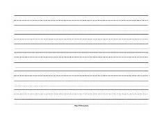Printable Lined Paper Kindergarten Printable Writing Paper For Handwriting For Preschool To