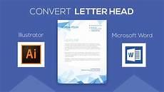 How To Design Letterhead In Word Convert Letterhead Design From Adobe Illustrator To