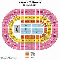 Seating Chart Nassau Veterans Memorial Coliseum Nassau Veterans Memorial Coliseum Uniondale Ny Seating