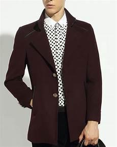 burgundy pea coats for 2020 burgundy wool blend style fashion pea coat