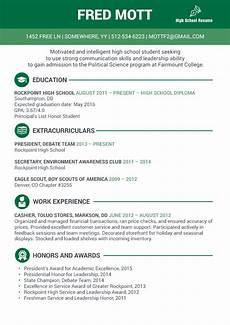 Resume For High School Student For College High School Student Resume For College Admission Visual Ly