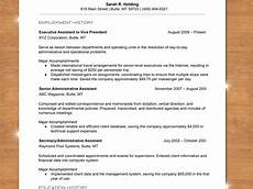 A Chronological Resumes How To Write A Chronological Resume With Sample Resume
