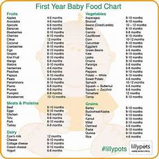 One Month Old Baby Feeding Chart First Year Baby Food Chart Miss Rylee One Year