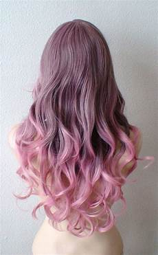 Light Brown Mauve Hair Brown Pink Ombre Wig Pastel Pink Wig Light Brown