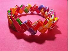 How To Make Candy Wrappers How To Make A Bracelet Out Of Candy Wrappers 13 Steps