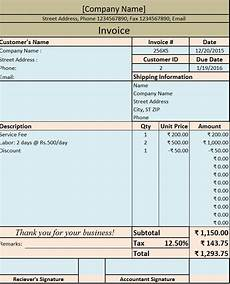 Vat Bill Format In Excel Download Invoice Bill Excel Template Exceldatapro