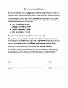 Repayment Contract Templates Payment Agreement 40 Templates Amp Contracts ᐅ Templatelab